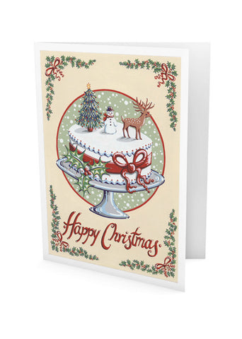 Christmas Cake Greeting Card