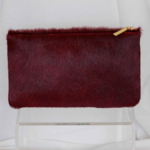 Zip Pouch in Merlot