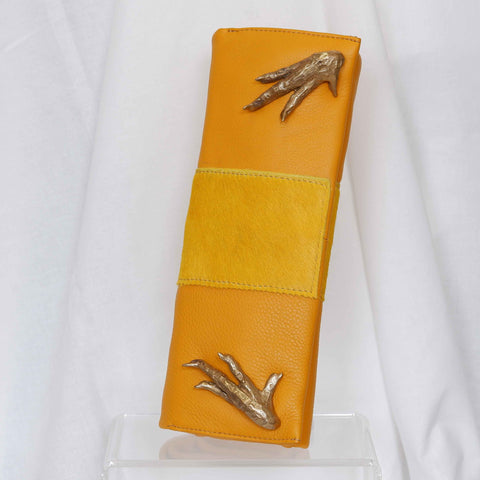 Calf Hair Clutch in Vanilla