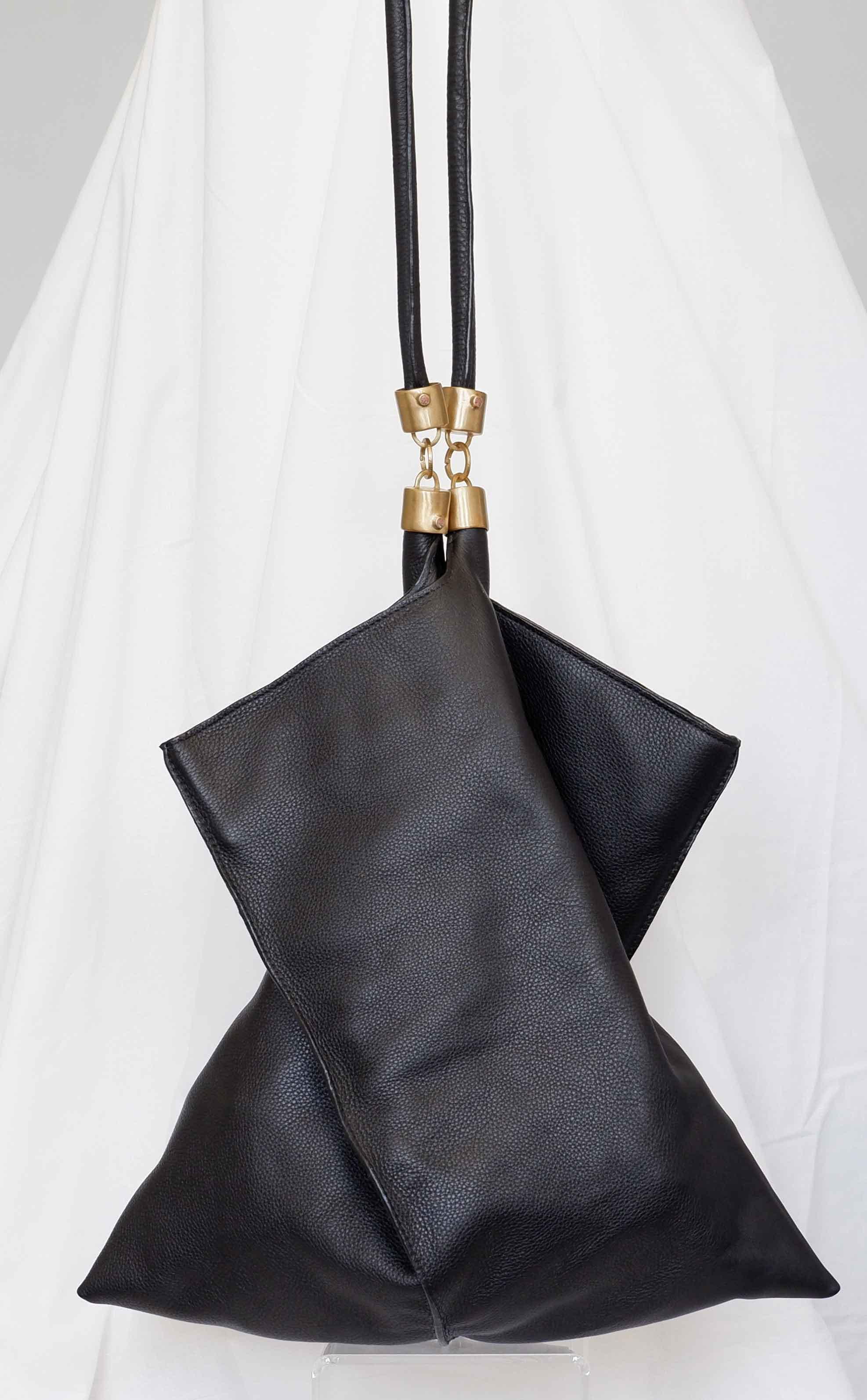 Large Origami Tote in Black