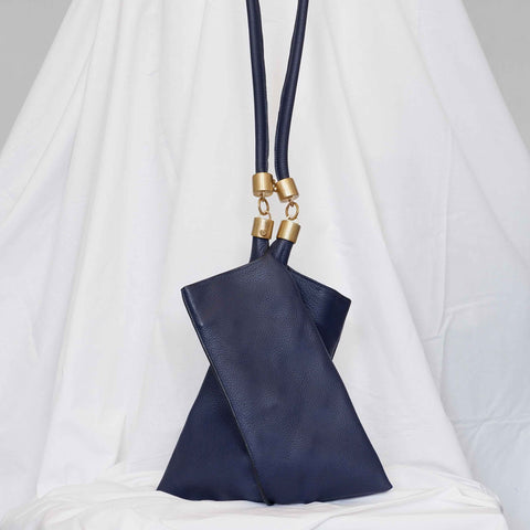 Small Origami Tote in Navy