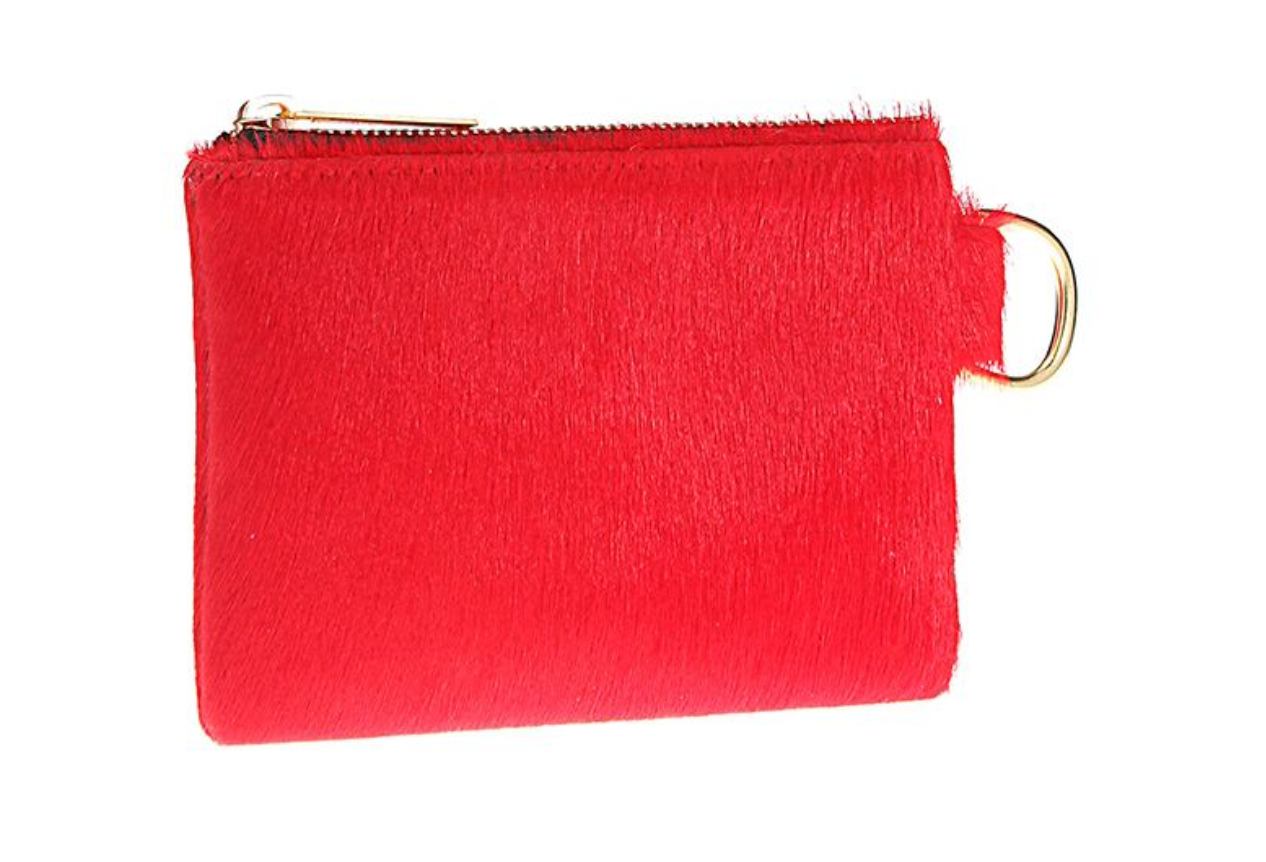Zip Pouch in Vermillion