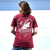 CRASHKIDS! T-Shirt: Unisex - burgundy