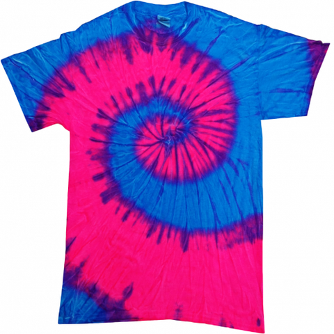 Fluorescent Swirl Blue and Pink