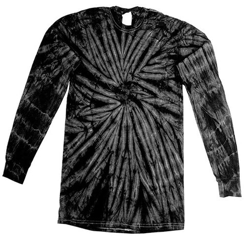 Spider Black Long Sleeved Tie Dye