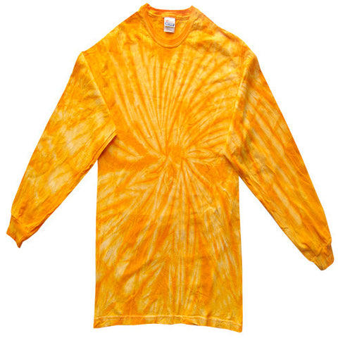 Spider Gold Long Sleeved Tie Dye
