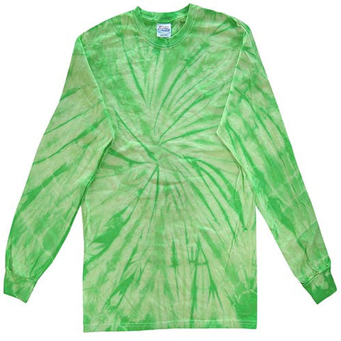 Spider Lime Long Sleeved Tie Dye shirt