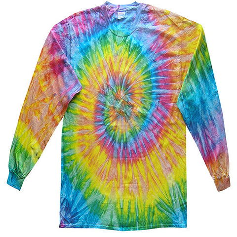 Spiral Saturn Long Sleeved Tie Dye shirt