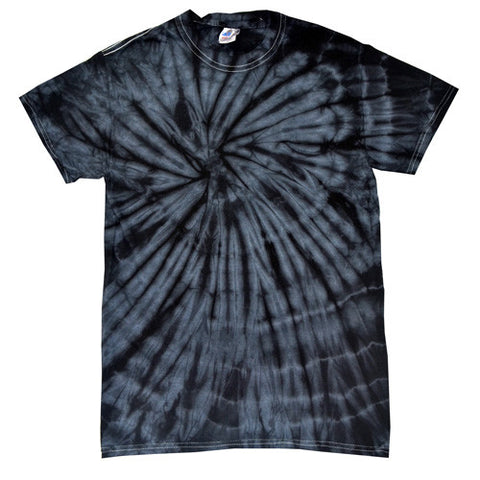 Spider Black Tie Dye shirt