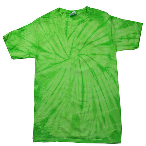 Spider Lime Tie Dye shirt