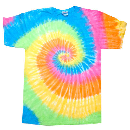 spiral eternity tie dye short sleeve t-shirt