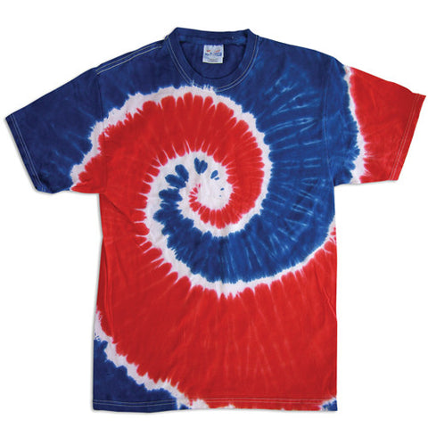 Spiral Royal and Red Tie Dye
