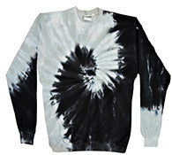 Black and Silver - Tie Dye Sweatshirt