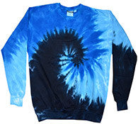 Blue Ocean - Tie Dye Sweatshirt or Crewneck