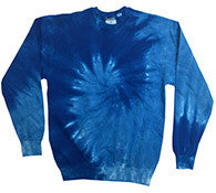 Spiral Royal - Tie Dye Sweatshirt or Crewneck
