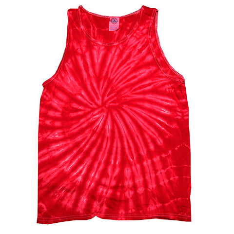 Unisex Tie Dye Tank Tops - Spider Red