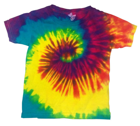 Toddler Reactive Rainbow Tie Dye shirt