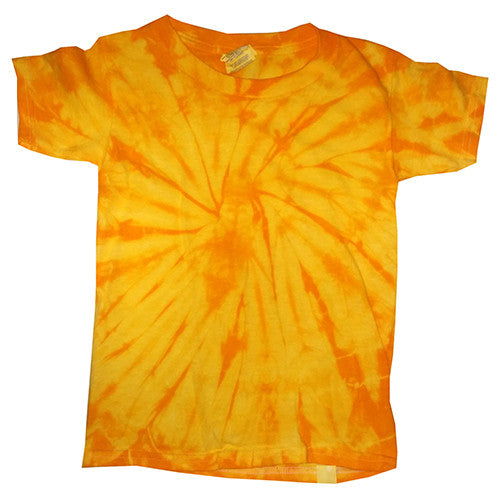 Toddler Spider Gold Tie Dye shirt