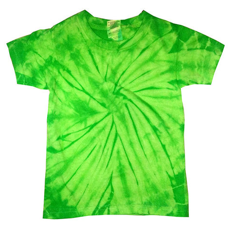 Toddler Spider Lime Tie Dye shirt