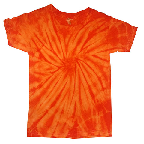 Toddler Spider Orange Tie Dye shirt