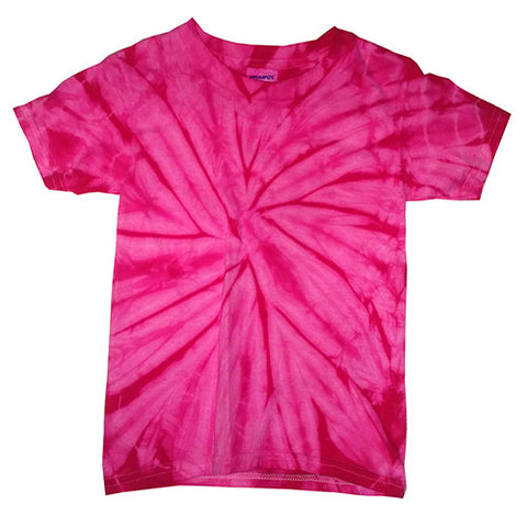 Toddler Spider Pink Tie Dye shirt