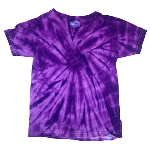 Toddler Spider Purple Tie Dye shirt