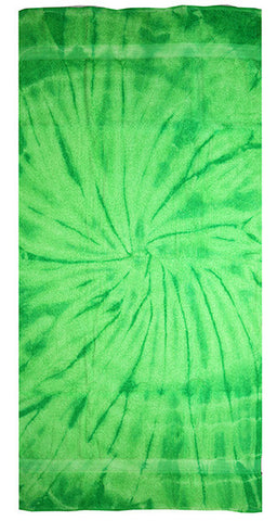 Spider Lime Tie Dye Towel