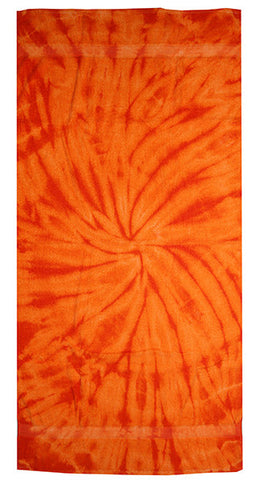 Spider Orange Tie Dye Towel