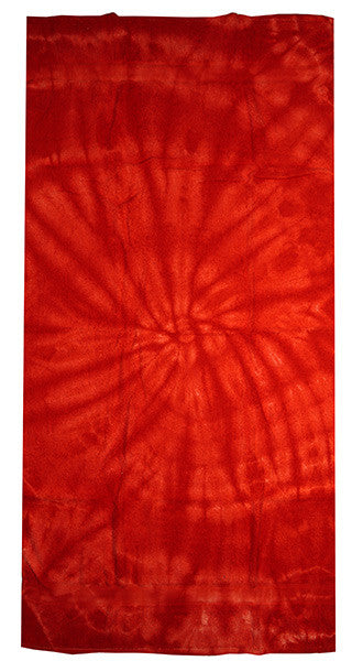 spider red tie dye towel