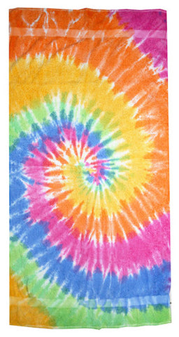 Spiral Eternity Tie Dye Towel