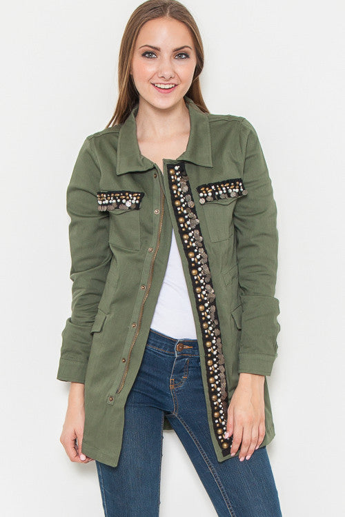Bling It On Cargo Jacket