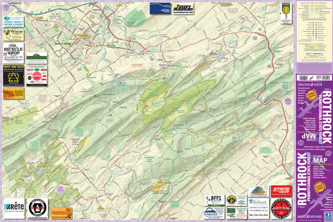 Rothrock State Forest Lizard Map, Pennsylvania