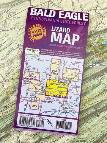 Bald Eagle State Forest Lizard Map, Pennsylvania