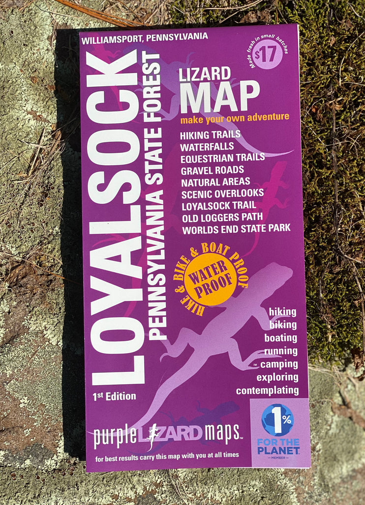 Loyalsock State Forest Lizard Map, Pennsylvania