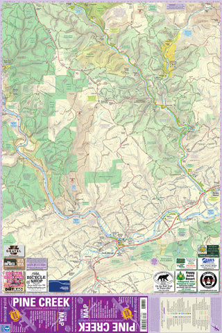 Pine Creek Lizard Map, Pennsylvania