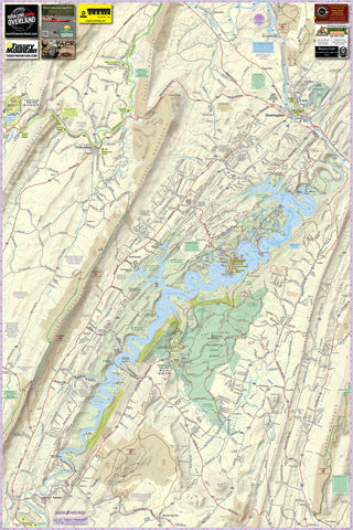 Raystown Lizard Map, Pennsylvania