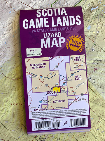 New! Scotia Game Lands Trails and History Map PA