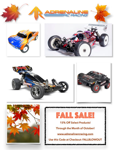 Fall Sale on Traxxas, TLR, Losi, Tekno, Mugen,