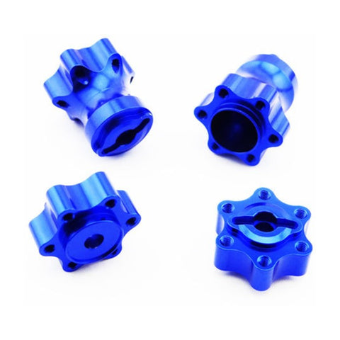 Hot Racing Axial Yeti Aluminum One-Piece Wheel Hub Set (Blue) (4) **