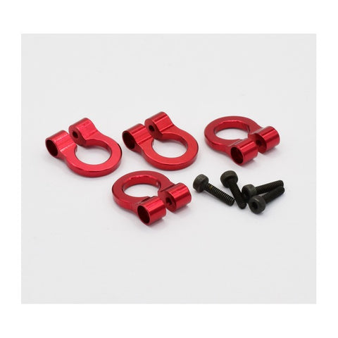 Hot Racing 1/10 Aluminum Tow Shackle D-Rings (4) (Red) **