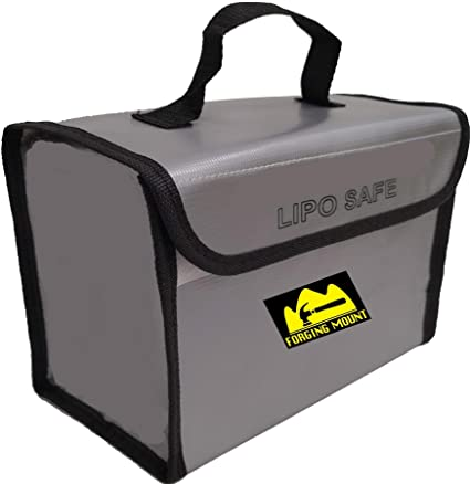 "FORGING MOUNT Fireproof Explosionproof LiPo Safe Bag for LiPo Battery Storage 8.5""x4.5""x6.5 inch"