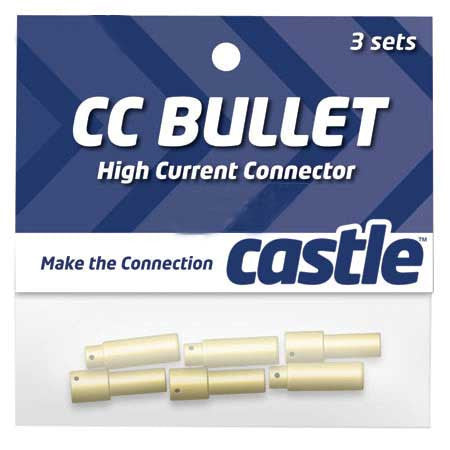 Castle 4mm High Current CC Bullet Connector Set