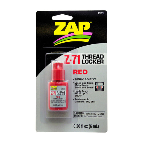 Pacer Technology Z-71 Red Thread Locker (.20oz)