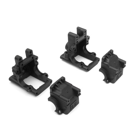 Tekno RC EB410/ET410 Front & Rear Bulkhead Set (Revised) **