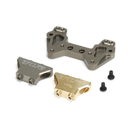 Team Losi Racing Aluminum/Brass Mid Motor Rear Camber Block **DISCONTINUED