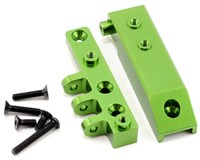 ST Racing Concepts Aluminum HD Front Servo Mount Block (Green) w/Upper Link Mount **