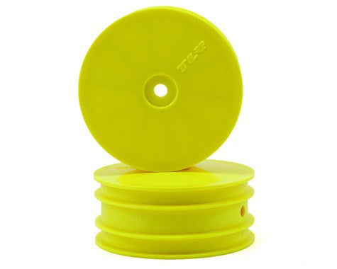 Team Losi Racing 12mm Hex 1/10 4WD Front Buggy Wheels (2) (Yellow) (22-4) **