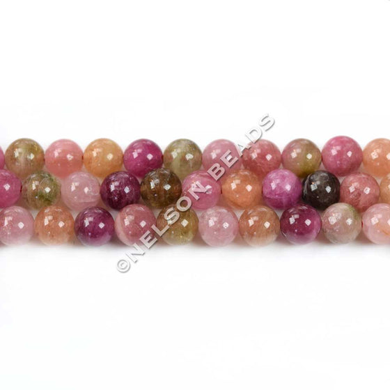 Multicolor Tourmaline 5mm Round Beads