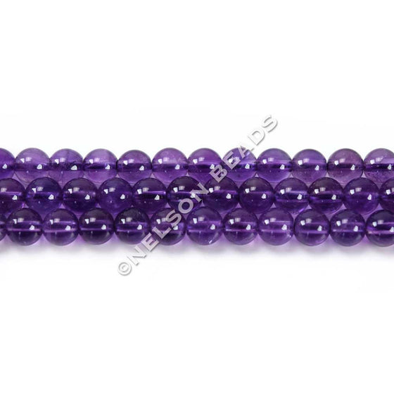 High Quality 4mm Round Amethyst Beads