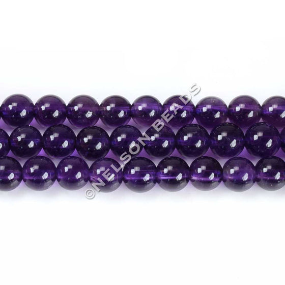 6mm African Amethyst Round Beads